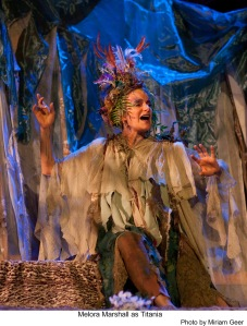 Meolora Marshall as Titania in the 2013 production of Midsummer Night's Dream at Theatricum Botanicum in Topanga Cayon.