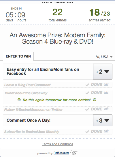 Modern Family Season 4 Giveaway