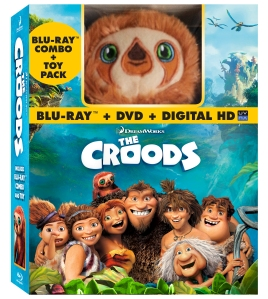 Croods DVD and plushie pac