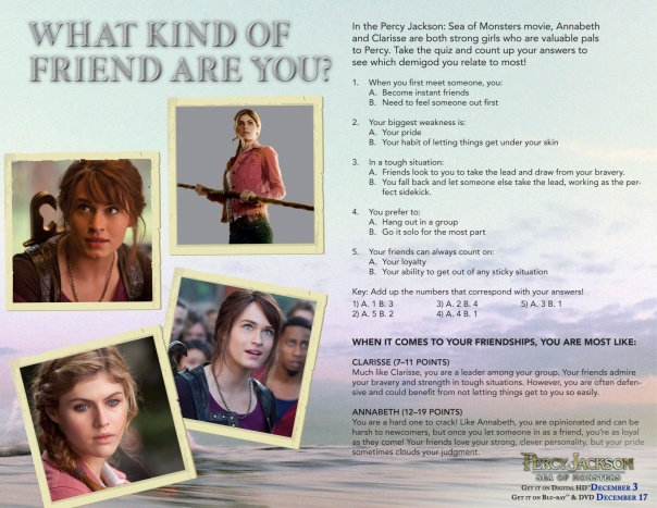 Percy Jackson Sea of Monsters activity sheet on EncinoMom.com