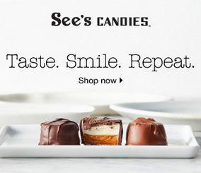 See's Candies Ad screenshot for See's Candies giveaway.