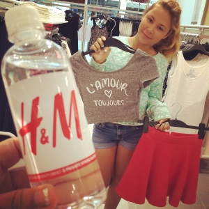 Lizzie K picks out fall fashion for back to school at H&M in Sherman Oaks.