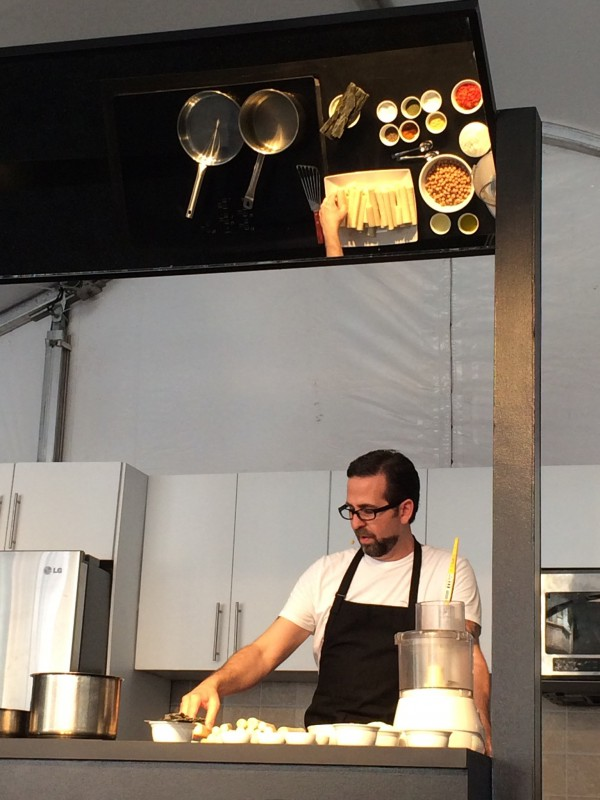 Chef Tal Ronnen of Crossroads Restaurant at the Taste. Photo by Lisa Keating.