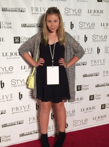Lizzie K on the Red Carpet at Style Fashion Week LA.