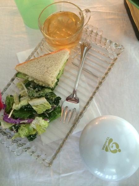Vintage glass luncheon plates.