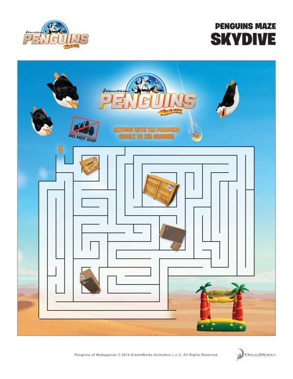 Penguins Of Madagascar Maze
