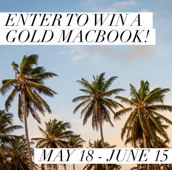 Gold MacBook Giveaway image.