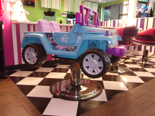 The Jeep From Frozen is a salon chair for kids.